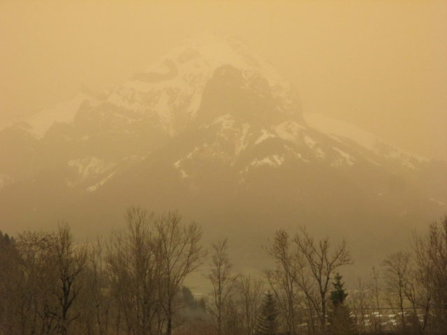 Tempête de sable sur le Trélod 7 février 2021