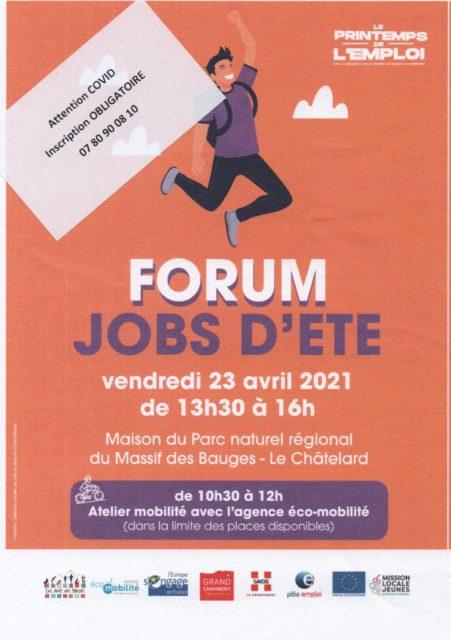 forum job été 2021